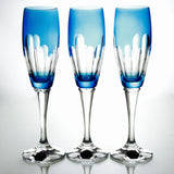Crystal Aqua Champagne Flute - Gifts by Kasia - 4