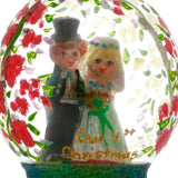 Newlywed Couple Dome Christmas Ornament