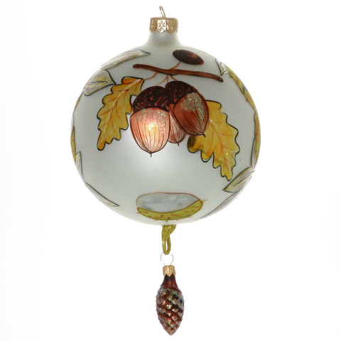 Acorn Globe with Dangle Ornament - Gifts by Kasia - 1