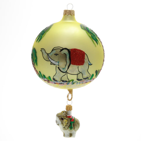 Elephant Christmas Ornament with dangle baby Elephant - Gifts by Kasia - 1