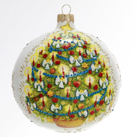 Handmade Christmas Ornament with Candlelit Christmas Tree - Gifts by Kasia - 1