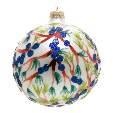 Blueberry Branch Globe Christmas Ornament - Gifts by Kasia - 1