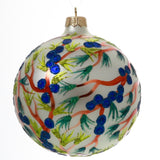 Blueberry Branch Globe Christmas Ornament - Gifts by Kasia - 4