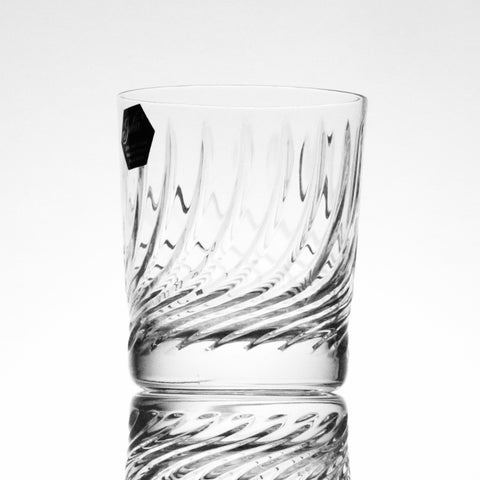 Crystal  Diamond Whiskey Tumbler Flame Cut - Gifts by Kasia - 1