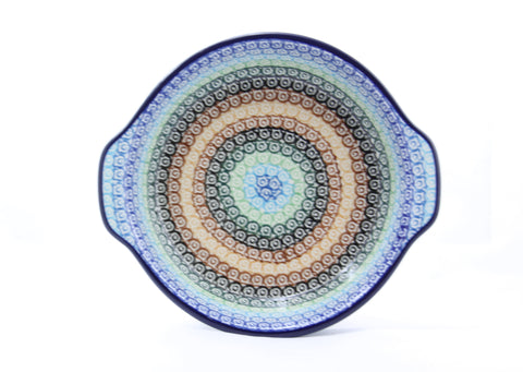 Handmade Ceramic Baking Dish Blue Rainbow - Gifts by Kasia - 1