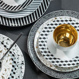 Dinner Plate Black Stripes Pattern  Mix-N-Match - Gifts by Kasia - 3