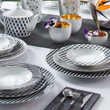 Dinner Plate Black Diamond Pattern  Mix-N-Match - Gifts by Kasia - 6