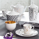 Cup and Saucer Black Diamond Pattern  Mix-N-Match - Gifts by Kasia - 3