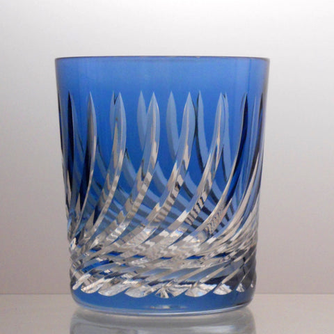Whiskey/Liquor Aqua Tumbler Flame Cut - Gifts by Kasia