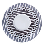 Dinner Plate Black Stripes Pattern  Mix-N-Match - Gifts by Kasia - 6
