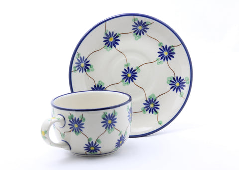 Handmade Ceramic Tee Cup and Saucer - Gifts by Kasia - 1