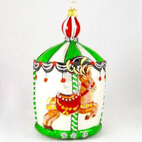 Large Carousel with Deer Christmas Ornament - www.giftsbykasia.com - 1