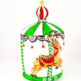 Large Carousel with Deer Christmas Ornament - www.giftsbykasia.com - 3