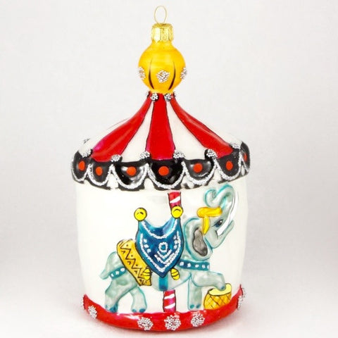 Large Carousel with Elephant Christmas Ornament - www.giftsbykasia.com - 1