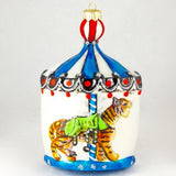 Large Carousel with Tiger Christmas Ornament - www.giftsbykasia.com - 1