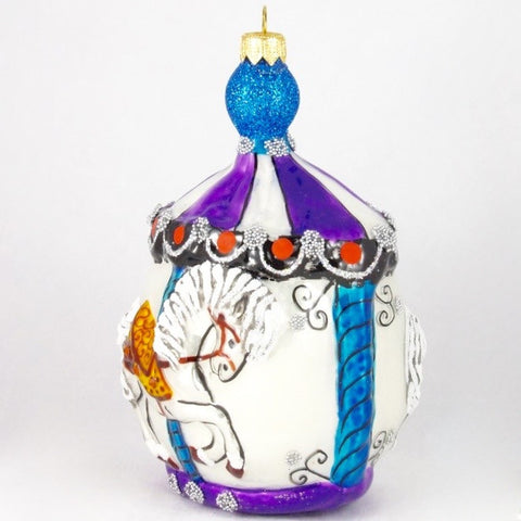 Large Carousel with Horse Christmas Ornament – Gifts by Kasia