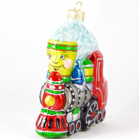 Happy Train with Bear Conductor Christmas Ornament - www.giftsbykasia.com - 1