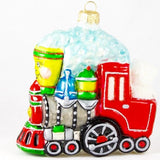 Happy Train with Bear Conductor Christmas Ornament - www.giftsbykasia.com - 2
