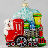 Happy Train with Bear Conductor Christmas Ornament - www.giftsbykasia.com - 4