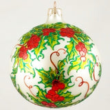 Holly with Red Berries Christmas Ornament - www.giftsbykasia.com - 1