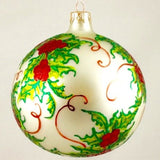 Holly with Red Berries Christmas Ornament - www.giftsbykasia.com - 2