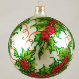 Holly with Red Berries Christmas Ornament - www.giftsbykasia.com - 3