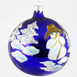 Globe Snowman with Broom Christmas Ornament - www.giftsbykasia.com - 1