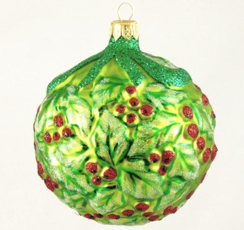 Globe Berry and Holly Christmas Ornament - www.giftsbykasia.com - 1