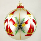 Globe Santa with Fern Christmas Ornament - www.giftsbykasia.com - 2