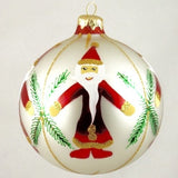 Globe Santa with Fern Christmas Ornament - www.giftsbykasia.com - 1