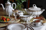 Fine China/Porcelain Bolero Dinner set 12/45 Princess style with 24K gold and Platinum accents - Gifts by Kasia - 3