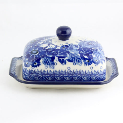 Handmade Ceramic Blue Bird Butter Dish - Gifts by Kasia - 1