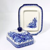 Handmade Ceramic Blue Bird Butter Dish - Gifts by Kasia - 2