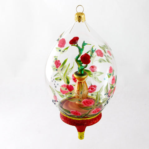 Dome with Roses in Vase Christmas Ornament - Gifts by Kasia - 1