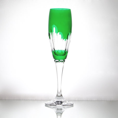 Crystal Emerald Champagne Flute - Gifts by Kasia - 6
