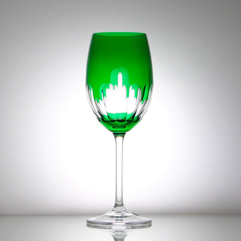 Crystal Emerald Wine Goblet - Gifts by Kasia - 1