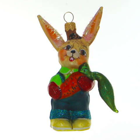 Handmade Bunny with Carrot Christmas Ornament - Gifts by Kasia - 1