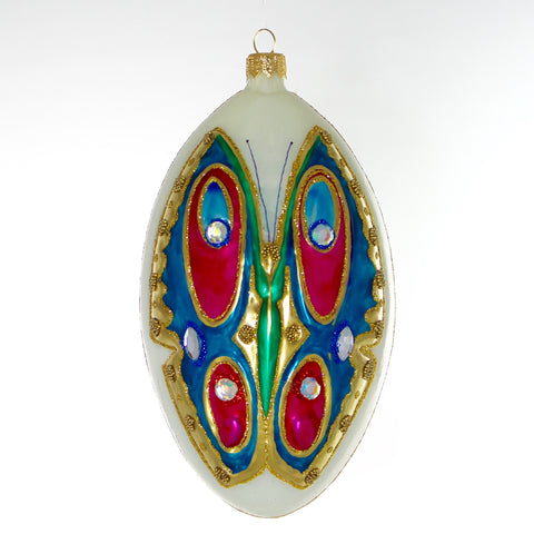 Butterfly On Oval Christmas Ornament - Gifts by Kasia - 1