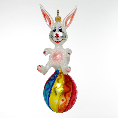 Handmade Bunny on Egg Ornament - Gifts by Kasia - 1