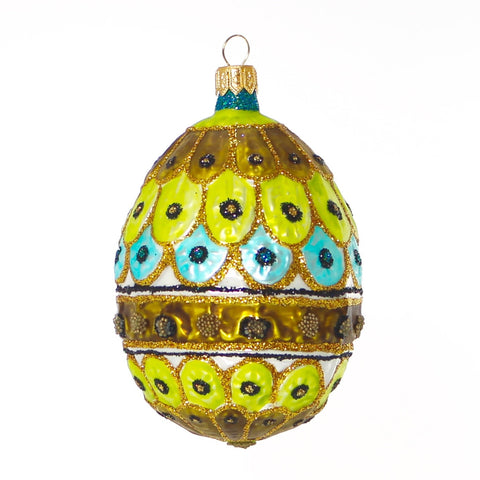 Royal Peacock Egg Christmas or Easter Ornament - Gifts by Kasia - 1