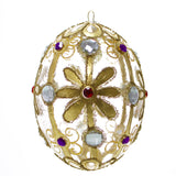 Regal Egg Ornament with Gems Christmas or Easter Ornament - Gifts by Kasia - 1