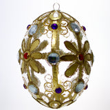Regal Egg Ornament with Gems Christmas or Easter Ornament - Gifts by Kasia - 2