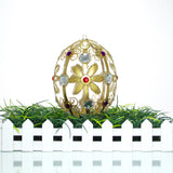 Regal Egg Ornament with Gems Christmas or Easter Ornament - Gifts by Kasia - 5