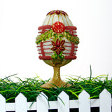 White Egg Standing Ornament with Green Garland - Gifts by Kasia - 4