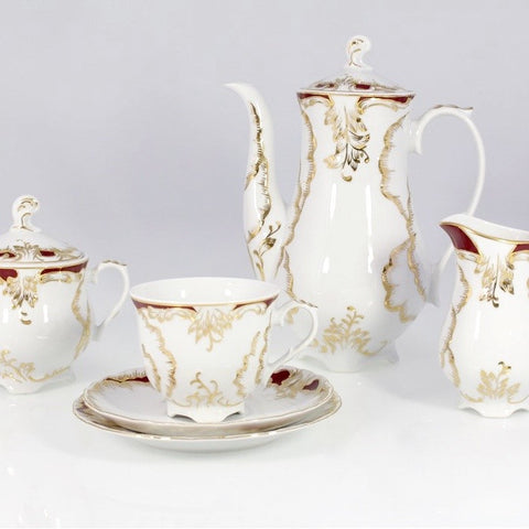 Coffee/Tea Set, 12 Place Settings  Rococo Design - Gifts by Kasia - 1