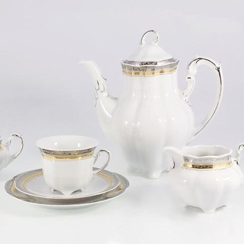 Coffee/Tea Set, 12 Place Settings  Bolero Golden Princess Design - Gifts by Kasia - 1