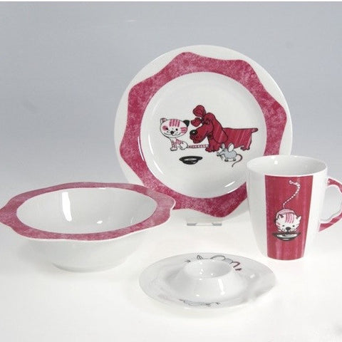 Child's Fine China Porcelain Set, Toy Cat and Dog - Gifts by Kasia - 1