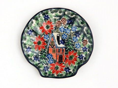 Handmade Ceramic House in the Garden Shell Shaped Tray - Gifts by Kasia