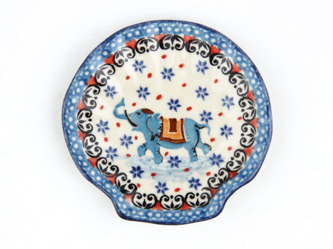 Handmade Ceramic Circus Elephant Shell Shaped Tray - Gifts by Kasia
