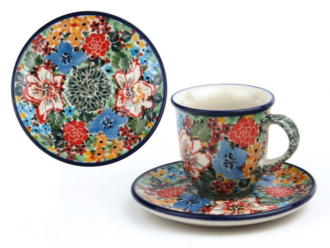 Handmade Ceramic Expresso Cup and Saucer - Gifts by Kasia